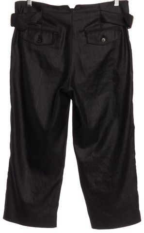 3.1 PHILLIP LIM Gray Metallic Pleated Cropped Trousers