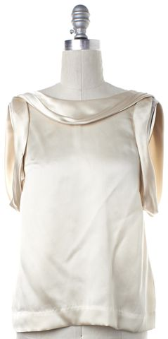 3.1 PHILLIP LIM Ivory Silk Sleeveless Drape Blouse