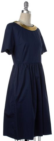 3.1 PHILLIP LIM Blue Gold Cotton Dress