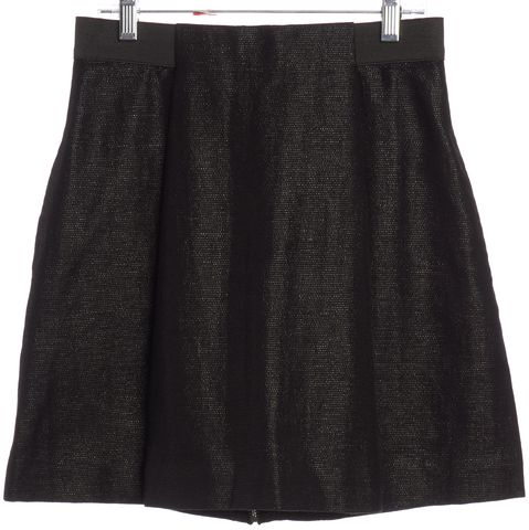 3.1 PHILLIP LIM Black Tweed Pleated Mini Skirt