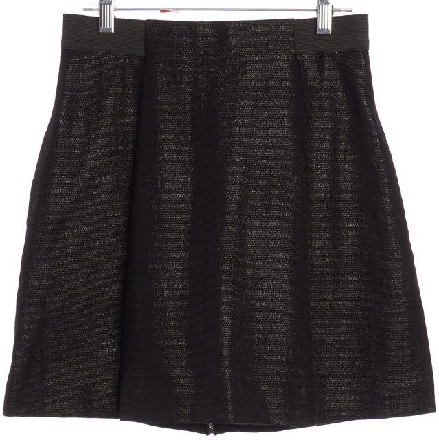 3.1 PHILLIP LIM Black Tweed Pleated Mini Skirt