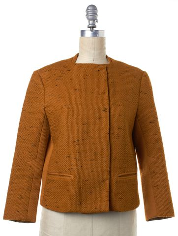 3.1 PHILLIP LIM Orange Tweed Zip Up Jacket