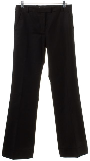 3.1 PHILLIP LIM Black Straight Leg Cuffed Trouser Pants