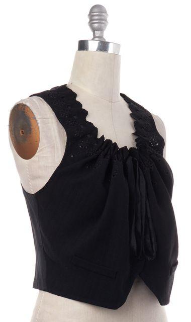 3.1 PHILLIP LIM Black Drawstring Neck Cutout Vest