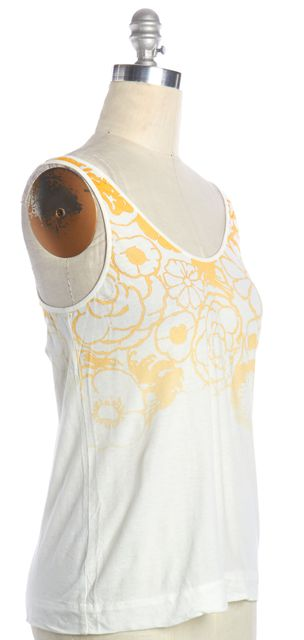 3.1 PHILLIP LIM White Floral Print Tank Top