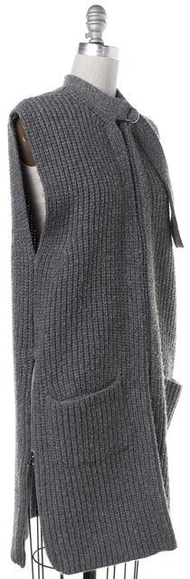 3.1 PHILLIP LIM Gray Wool Knit Long Vest