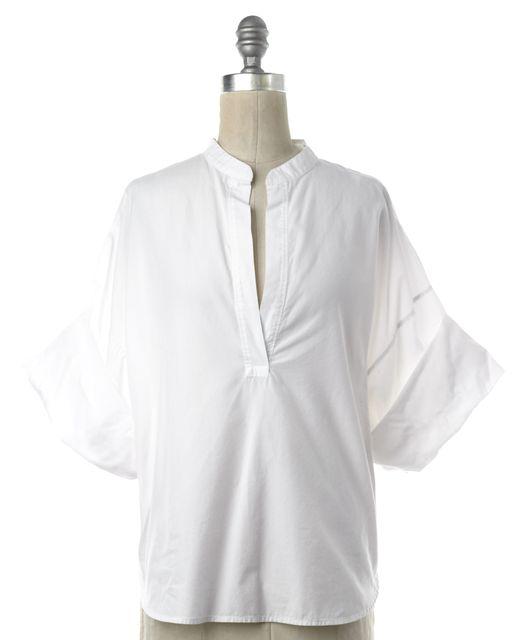 3.1 PHILLIP LIM White V Neck Cotton Blouse Top