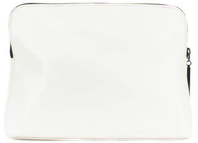 3.1 PHILLIP LIM White Black Patent Leather Large Clutch