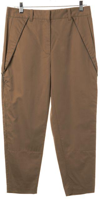 3.1 PHILLIP LIM Beige Zipper Detail Trousers