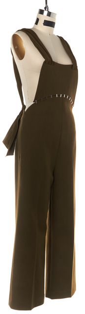 3.1 PHILLIP LIM Wool Olive Green Wide Leg Overall