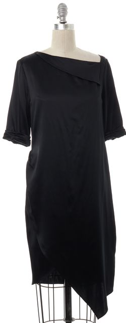 3.1 PHILLIP LIM Black Silk Asymmetric Shift Dress