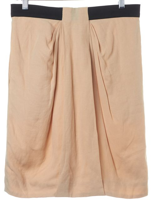 3.1 PHILLIP LIM Beige Black Elastic Waist Draped Skirt