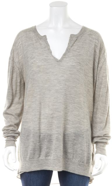 3.1 PHILLIP LIM Heather Gray Wool Knit Top
