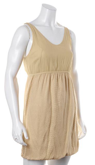 3.1 PHILLIP LIM Beige Silk Bubble Hem Empire Waist Dress