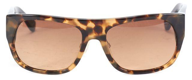 3.1 PHILLIP LIM Black Brown Tortoise Acetate Rectangle Sunglasses w/ Case