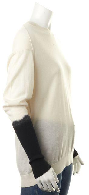 3.1 PHILLIP LIM Ivory Black Colorblock Wool Crewneck Sweater