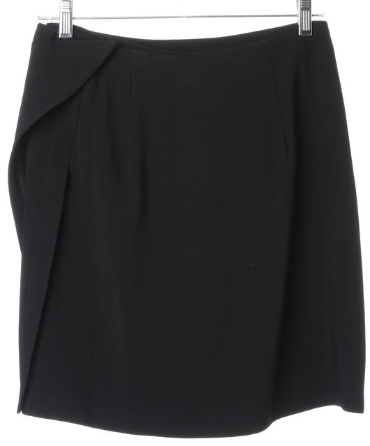 3.1 PHILLIP LIM Black Draped Above Knee Wrap Skirt