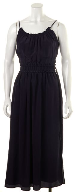 3.1 PHILLIP LIM Blue Silk Thin Strap Two Split Empire Waist Dress