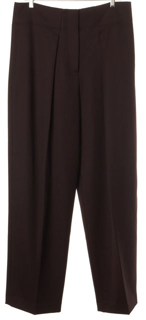 3.1 PHILLIP LIM Purple Wool High Rise Pleated Wide Straight Leg Trousers