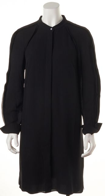 3.1 PHILLIP LIM Black Silk Shirt Dress