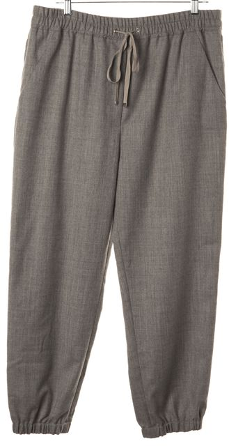 3.1 PHILLIP LIM Gray Virgin Wool Casual Drawstring Pants