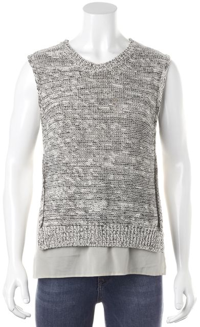 3.1 PHILLIP LIM Gray Knit Top