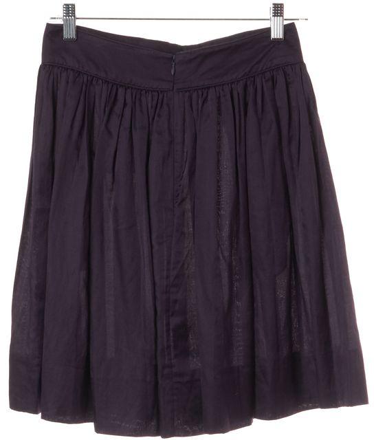 3.1 PHILLIP LIM Purple Knee Length Pocket Front Pleated Skirt