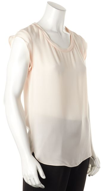 3.1 PHILLIP LIM Blush Pink Silk Relaxed Fit Cap Sleeve Blouse