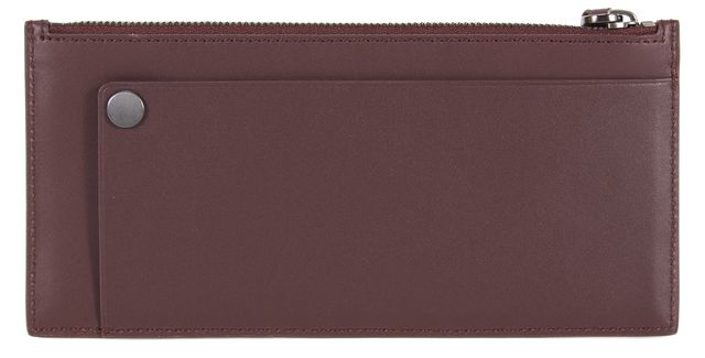 3.1 PHILLIP LIM Bordeaux Red Leather Cash Zip Wallet w/ Box