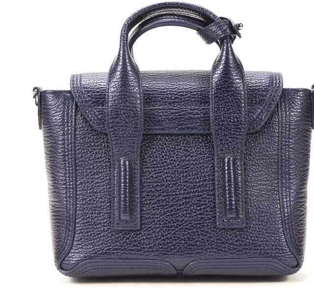 3.1 PHILLIP LIM Navy Blue Tanzanite Genuine Leather Pashli Mini Satchel
