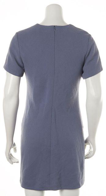 3.1 PHILLIP LIM Blue Grommet Embellished Trim Short Sleeve Sheath Dress