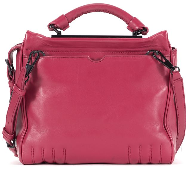 3.1 PHILLIP LIM Raspberry Red Leather Small Ryder Satchel