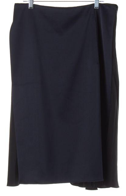 3.1 PHILLIP LIM Black Blue Color Block Silk A-Line Skirt