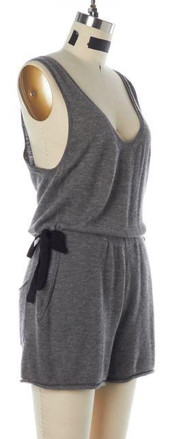 3.1 PHILLIP LIM Gray Black Cashmere Sleeveless Elastic Waist Romper