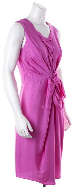 3.1 PHILLIP LIM Purple Silk Sleeveless Draped Sheath Dress