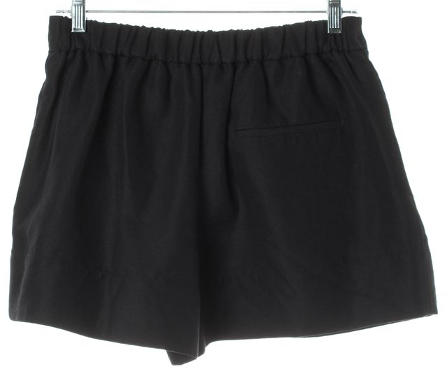 3.1 PHILLIP LIM Black Linen High Waisted Zip Front Pleated Dress Shorts