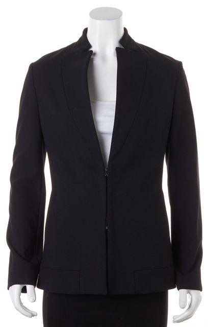 3.1 PHILLIP LIM Black Collarless Zip-Up Blazer Jacket