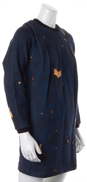 3.1 PHILLIP LIM Blue Orange Abstract Sweatshirt Dress