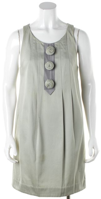 3.1 PHILLIP LIM Green Shift Flower Detail Dress