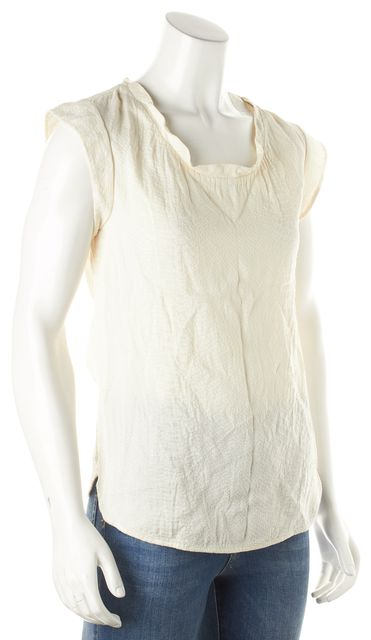 3.1 PHILLIP LIM Ivory Solid Animal Print Capped Tank Top