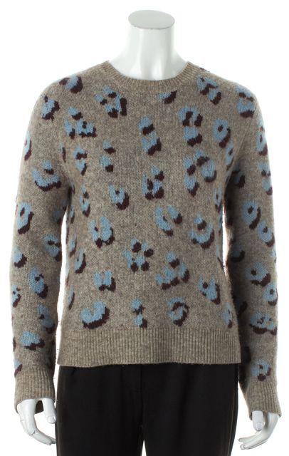 3.1 PHILLIP LIM Multi-color Animal Print Wool Crewneck Sweater