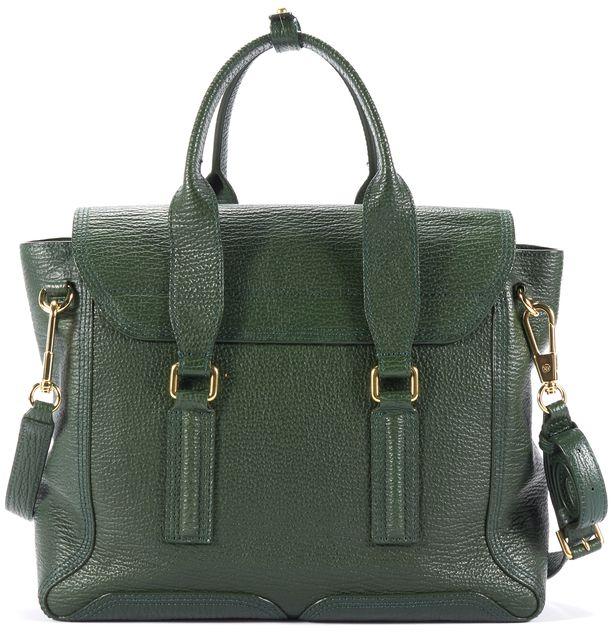 3.1 PHILLIP LIM Green Leather Pashli Satchel Bag