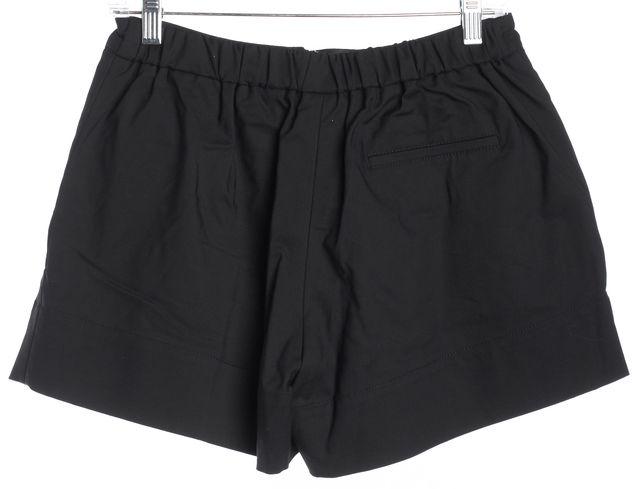 3.1 PHILLIP LIM Black High-Waist Front Pleat Wide Leg Dress Shorts