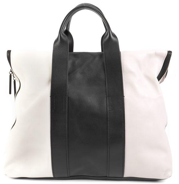 3.1 PHILLIP LIM 3.1 PHILLIP LIMGray Black White Multi-color Leather Tote