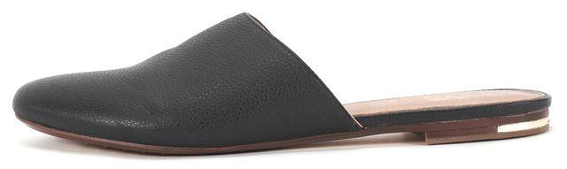 YOSI SAMRA Black Pebbled Leather Parker Mule Flats