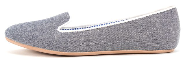 CHARLES PHILIP Blue Chambray Sheila Loafer Flats