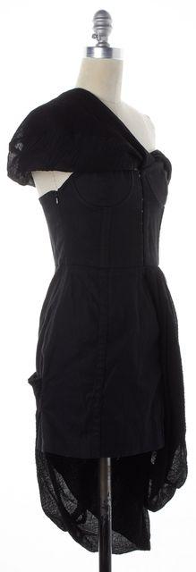 OPENING CEREMONY Solid Black One Shoulder Asymmetrical Hem Dress