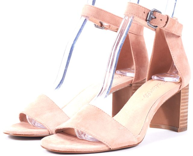 MADEWELL Dusty Clay Suede Lainey Sandal Block Heels