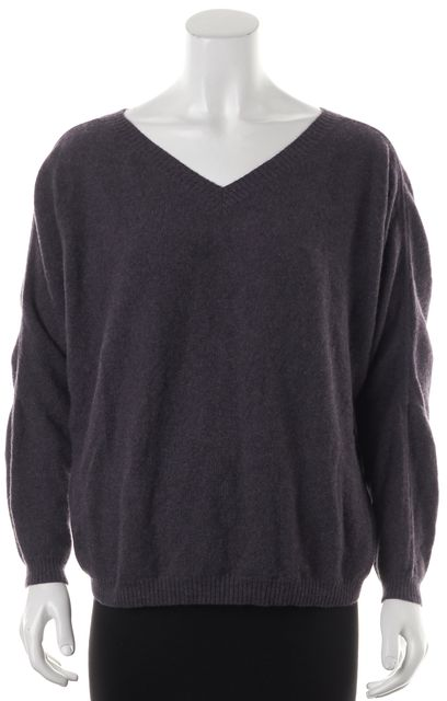 360CASHMERE Purple Cashmere V-Neck Sweater