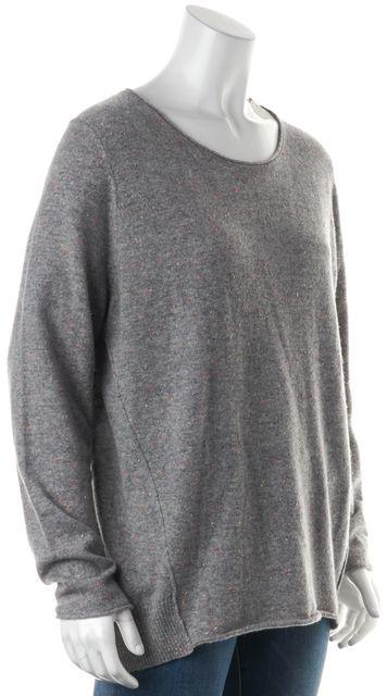 360CASHMERE Gray Speckled Cashmere Dakota Crewneck Sweater